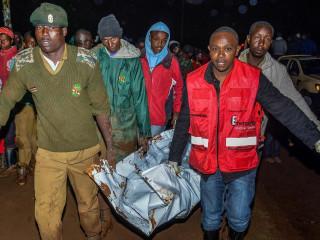 Dozens dead, missing after torrential rain bursts dam in Kenya