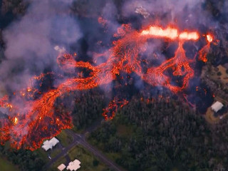 Glowing destruction: Watch Hawaiian lava flow that has displaced thousands