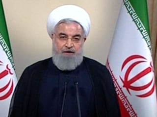 Iranian president reacts to Trump's nuclear deal withdrawal