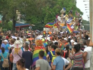 Thousands of people attend Cuba's LGBTQ pride parade