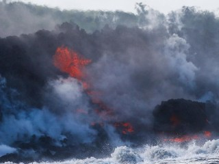 New deadly threat as Hawaii's lava flows pour into the ocean