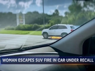 Woman escapes from Kia SUV engulfed in flames