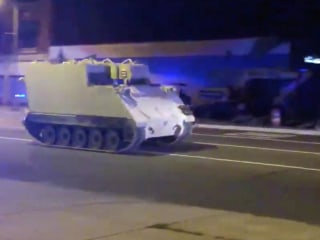 Stolen armored vehicle leads Virginia police on 75-mile chase