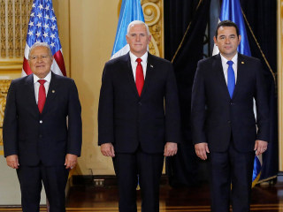 'This exodus must end,' Pence tells Central American leaders