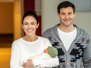 New Zealand PM introduces her newborn baby to the world
