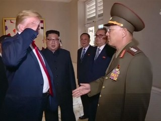 Trump salutes North Korean general in state media footage