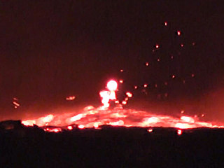 Fiery torrent of fast-moving lava flows from Hawaii's Kilauea