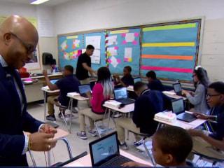 Philadelphia elementary school recruits African-American men as role models