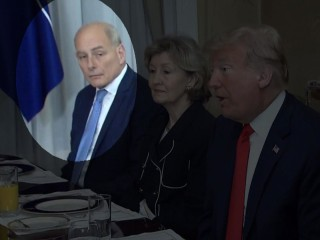 Watch John Kelly's silent reaction while Trump slams Germany