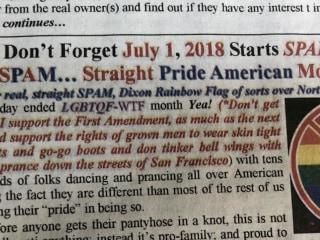 'Straight Pride' column sparks controversy