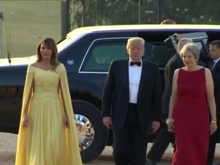 President Trump arrives in UK to meet with Prime Minister May and Queen