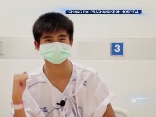 Thai soccer team sends gratitude to rescuers as they recover