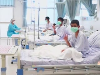 New images of Thai soccer team as they recover in the hospital