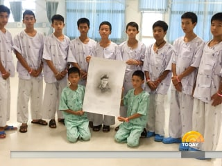Thai soccer team mourns diver lost in rescue, doctor prescribes family time for the boys