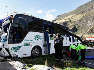 Ecuador bus crash kills two dozen