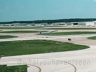 Video shows the frightening moment a van crosses a runway before plane's takeoff