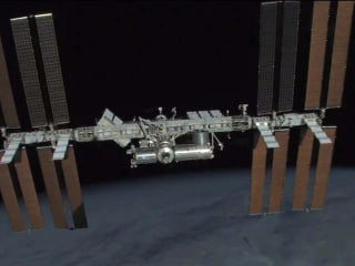 Astronauts hustle to fix hole after International Space Station springs a leak