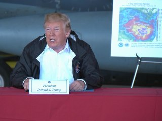 Trump visits North Carolina during Hurricane Florence recovery