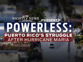 Powerless: Puerto Rico's struggle after Hurricane Maria