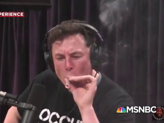 Watch Elon Musk smoke weed during podcast interview