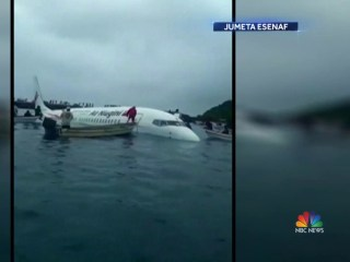 Airplane makes miracle water landing after missing runway in Micronesia