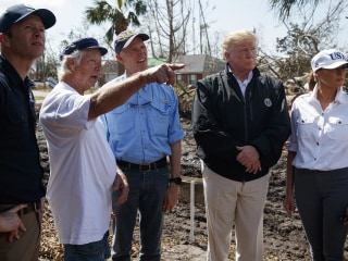 Scenes from Trump's post-Hurricane Michael visit to Florida and Georgia