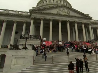 Protesters rush Capitol steps ahead of final Kavanaugh vote