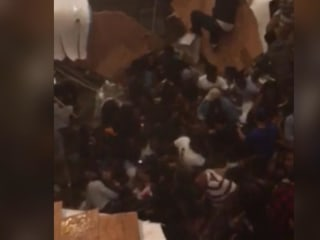 Video shows moment clubhouse floor collapses during private party