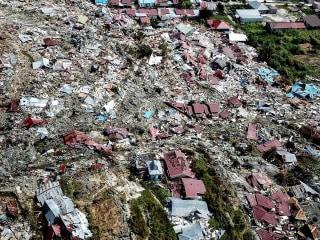 Drone video captures devastation left by Indonesia tsunami