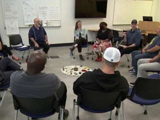 Police officers learn meditation to tackle job tension