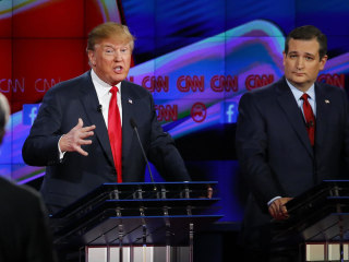 A flashback to fiery campaign attacks between Ted Cruz and Donald Trump