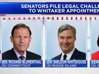 Senate Dems file lawsuit challenging Whitaker's  acting AG appointment