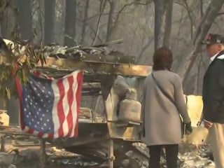 With more than 1,000 people unaccounted for, Trump visits California fire zones