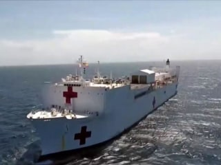 Exclusive: U.S. Navy hospital ship provides aid to Venezuelan refugees