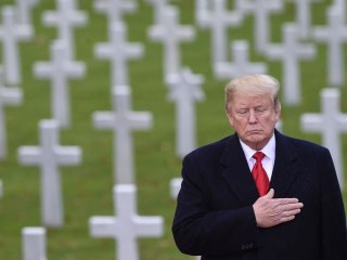 Trump honors slain U.S. WWI soldiers in remembrance ceremony
