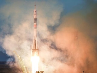 Soyuz rocket carrying NASA astronaut successfully lifts off on space station mission