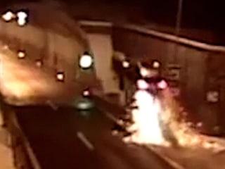 Spectacular crash sends car flying into the air