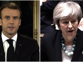 France and Britain leaders both facing crisis points