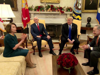 In public fight with Schumer, Pelosi, Trump says he'd be 'proud' to shut down government over border wall