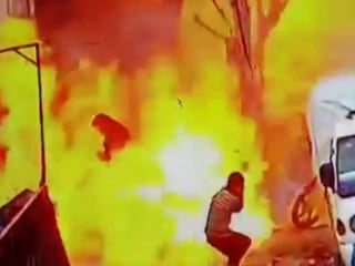 Deadly Syria blast captured on surveillance video