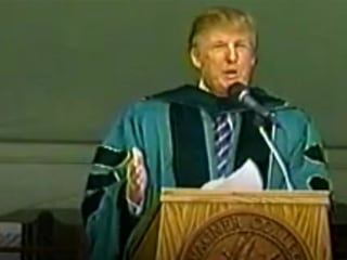 2004: Trump tells students to get past 'concrete wall in front of you'