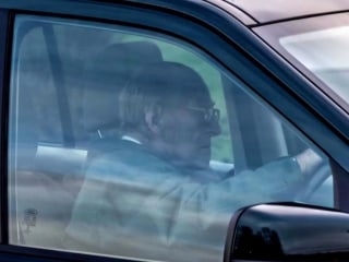 Prince Philip gets back behind the wheel days after crash