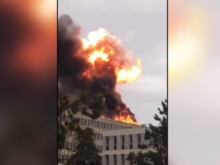 Frightening video shows huge explosion at university in France