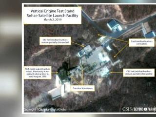 North Korea rebuilding launch site in exclusive satellite images