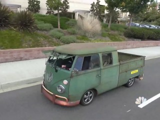Classic cars become electric vehicles at this California garage
