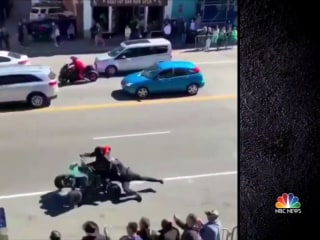 Manhunt underway after Nashville police officer dragged down street by ATV