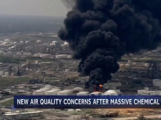 Air concerns linger after Texas chemical fire brings shelter-in-place order