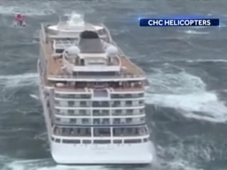 Stranded cruise ship towed safely to Norway port after dramatic rescues
