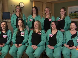 Nine nurses from same hospital wing all expecting this spring