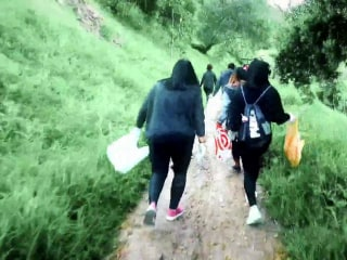 What is plogging? Growing movement of joggers picking up trash